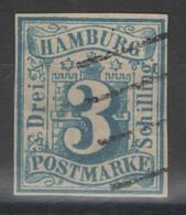 Hambourg - YT 4 Oblitéré - 1859 - Petit Aminci - Hamburg