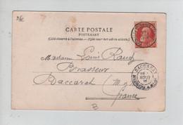 REF3223/ TP 74 GB S/CP BXL Eglise Ste Gudule C.BXL (Quartier Louise) 21/8/1905 > Baccarat France C.d'arrivée - 1905 Thick Beard