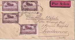 MAROC 1928 PLI AERIEN DE MARRAKECH POUR LAUSANNE - Brieven En Documenten