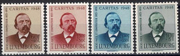 Luxembourg, Luxemburg 1948 CARITAS Edmond De La Fontaine, Série Neuf**MNH Paire Valeur Cat:25€ - Unused Stamps