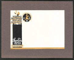 Ansichtskarten-Entwurf Erich Roehle, Glauchau I.Sa., Verband Deutscher Reklamefachleute E.V., Berlin, Potsdamerstr. 46 - Drawings