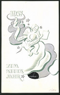 Ansichtskarten-Entwurf Erich Roehle, Glauchau I. Sa., Putte Bringt Druckerzeugnisse Ins Neue Jahr 1937 - Drawings