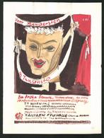 Ansichtskarten-Entwurf Erich Roehle, Glauchau I. Sa., Vom Hundertsten Ins Tausendste, Festhalle Bautzen, Figur Mit Mas - Drawings