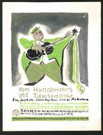 Ansichtskarten-Entwurf Erich Roehle, Glauchau I. Sa., Vom Hundertsten Ins Tausendste, Festhalle Bautzen, Musiker - Drawings