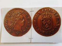 Liard A La Vieille Tête à Droite Rv/ écusson Couronné 1770  S = Reims - 751-987 Monedas Carolingias