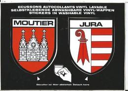 CPSM -- Blason - Autocollant- Suisse - Jura - Moutier - JU Jura