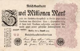 GERMANY-2 MILLIONEN MARK 1923  P-104b  Circ QAUNC   UNIFACE - 2 Millionen Mark