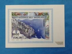 POSTE ITALIANE DIVISIONE FILATELIA CARTOLINA NUOVA EUROPA 1999 PARCO NAZIONALE ARCIPELAGO TOSCANO - Cartes-Maximum (CM)