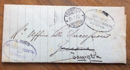 LIGURIA - TORRIGLIA * ( 28-238 ) 28/7/22 + Timbri Franchigia - DOCUMENTO IN FRANCHIGIA PER GENOVA - Marcophilie
