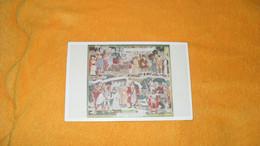 CARTE POSTALE PROJET DE TAPISSERIES DE LUCIEN MARTIAL..CACHETS LA POSTE EN 1870 - 1871 PARIS MUSEE POSTAL 1959..+ TIMBRE - Gedenkstempel