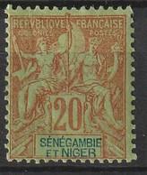 Sénégambie-et-Niger 1903 , YT 7 * , Cote 13,00 - Unused Stamps
