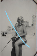Photox2 KNOKKE Le Zoute 1935Cheval Sur La Plage Digue Kust - Orte
