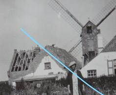 Photo WENDUINE Bij De Haan Blankenberge 1935 Molen Moulin Oude Huizen  Kust - Orte