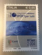 2004 - Italia - 10° Congresso Mondiale Sport Per Tutti. E.0,65 - 2001-10:  Nuovi