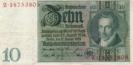 GERMANY- 10 MARK 1929  P-180a1  Circ. Z 18753805 - 10 Mark