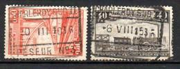 TR 182 + 196 Gestempeld CHARLEROY SUD II - PESEUR N°3 - 1923-1941