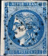 FRANCE - 1870 Yv.45C 20c Bleu Type 2 R.III (Pos.6) Obl. GC - B/TB - 1870 Emisión De Bordeaux