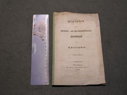 STATUTEN DER GESCHITHS UND ALTERTUMFORSCHENDEN DES OSTERLAN - 1839 - - Sin Clasificación