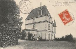 CPA Des Environs Du BUISSON - ALLES   (24) -  CHATEAU De FERRAN VUE PRISE Du HAUT De Sa TERRASSE  1913 - Otros Municipios