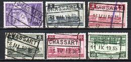 Lot Van 6 Zegels Gestempeld CHASSART - 1923-1941