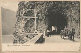CPA Suisse > UR Uri - Vierwaldstättersee - Axenstrasse - Attelage - Calèche - E. Goetz 1735 - UR Uri