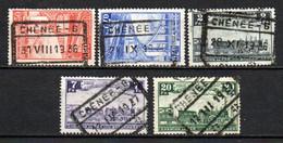 Lot Van 5 Zegels Gestempeld CHENEE 6 - 1923-1941
