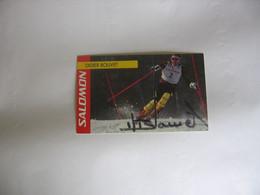 Ski - Autographe - Carte Signée Didier Bouvet - Sport Invernali