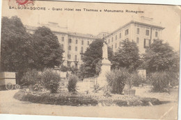 CPA D' ITALIE - SALSOMAGGIORE - GRAND HÔTEL Des THERMES E MONUMENTO ROMAGNOSI - Otras Ciudades