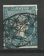 CUBA ESPAGNE INDE 1855 - N° 1  1/2 R Plata YT /  OBLITERE - Cuba (1874-1898)