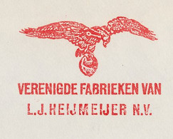 Meter Cover Netherlands 1961 Bird - Eagle - Unclassified