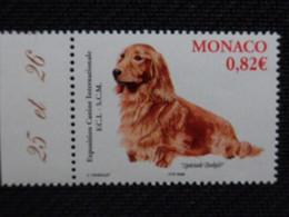 MONACO 2005 Y&T N° 2481 ** - EXPOSITION CANINE INTERNATIONALE, TECKEL - Neufs