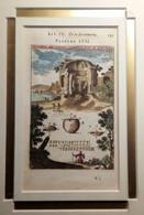 Incisione Su Rame Coloritura D'epoca Campi Flegrei Pozzuoli Prima Metà '700 (P462) Come Foto Con Passapartout 16,5x10,5 - Prenten & Gravure