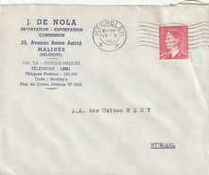 OCB 910 Op Firma Envelop Mechelen 1953 - Storia Postale
