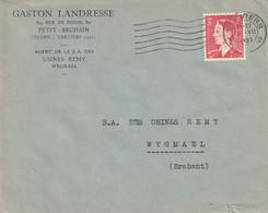 OCB 910 Op Firma Envelop Petit-Rechain 1953 - Storia Postale