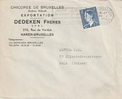 OCB 911 Op Firma Envelop Haren 1953 - Storia Postale