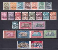 KOUANG-TCHEOU (CHINA) - YVERT 73/96 * MLH - COTE 2020 = 78 EUR - Unused Stamps
