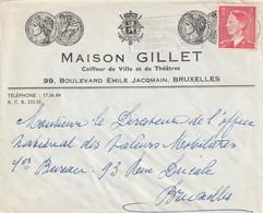 OCB 910 Op Firma Envelop Brussel 1953 - Storia Postale