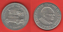 Tonga 50 Seniti 1985 - 100° Anniversario Auto Mini Minor Morris Cars Voitures Automobiles - Tonga
