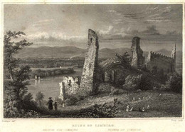 "LIMBIRG United Kingdom ~1851 Stahlstich "" Ruins Of Limbirg "" ~18x12 Cm Tombleson/Young Gravure Engraving Incisione - Prenten & Gravure"