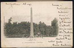 CPA SEINE & MARNE FONTAINEBLEAU N°16 L'OBELISQUE ANIMEE 1902 PRECURSEUR THIBAUD EDIT FONTAINEBLEAU MELUN - Fontainebleau