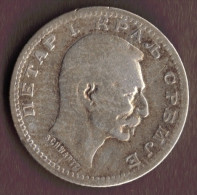 SERBIA 50 PARA 1915  ARGENT Silver 0.835 KM# 24 PETER I - Serbia