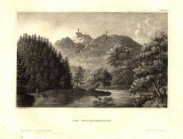 """LEUCHTENBURG Seitenroda Thüringen ~1851 Stahlstich """" Die Leuchtenburg """" ~16x10 Cm Gravure Engraving Incisione - Prenten & Gravure"""