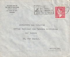 OCB 910 Op Firma Envelop Antwerpen1953 - Storia Postale