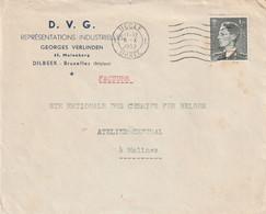 OCB 909 Op Firma Envelop Dilbeek 1953 - Storia Postale