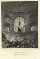 "United Kingdom London ~1851 Stahlstich "" St Pauls Cathedral ""~16x13 Cm Gravure Engraving Incisione - Prenten & Gravure"