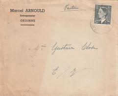 OCB 909 Op Firma Envelop Gedinne 1953 - Storia Postale