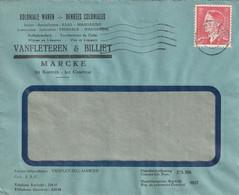 OCB 909 Op Firma Envelop Marcke 1953 - Storia Postale