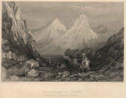 "BULGARIA Rumelia ~1851 Stahlstich "" Route Through The Balkan ""~19x13 Cm Gravure Engraving Incisione - Prenten & Gravure"