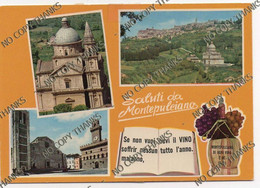 SALUTI DA MONTEPULCIANO - Vino Wine - Siena
