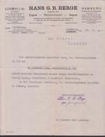 Coswig Sachsen, Einladung Hans G. B. Berge Geschäftshaus-Einweihung Großhandel 26.9.1921 Coswig - Hamburg - Publicidad